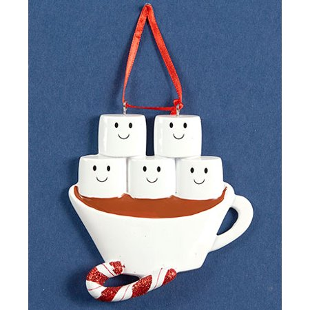 Hot Chocolate Family Ornaments (Family of 5)