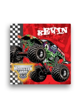 "Personalized Monster Jam Grave Digger Canvas Wall Art, 16"" x 16"""