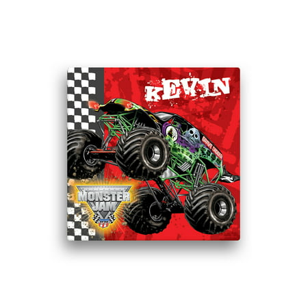 Personalized Monster Jam Grave Digger Canvas Wall Art, 16