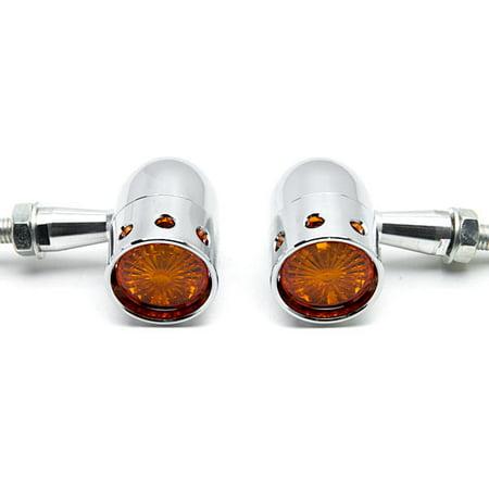 2pcs Chrome Motorcycle Turn Signals Blinker Lights For Honda Shadow Aero Phantom VLX 750 1100 - image 4 of 6