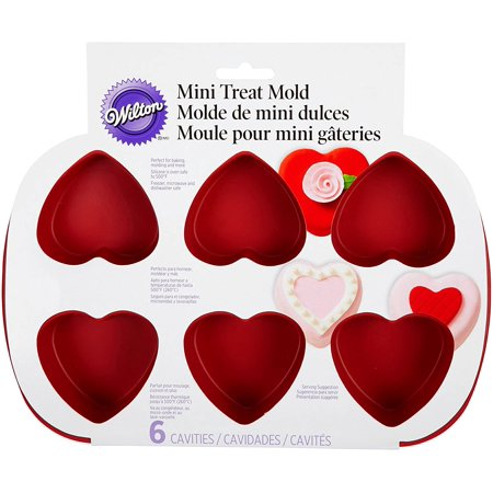 Wilton Mini Silicone Heart Mold, 6-Cavity Mold for Heart Shaped Cookies and Candy Wilton Cookie Molds