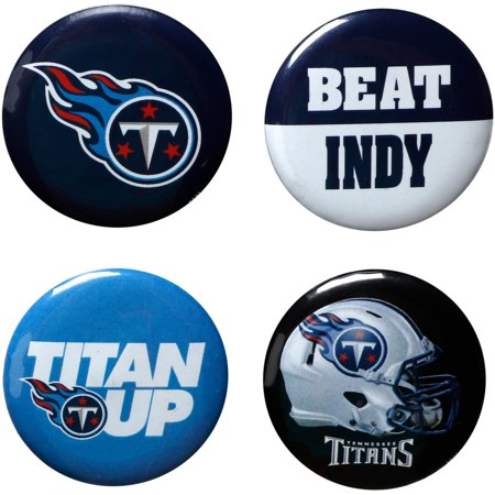 Tennessee Titans WinCraft Team Logos & Beat Opponent 4-Pack Pin Set - No Size ()