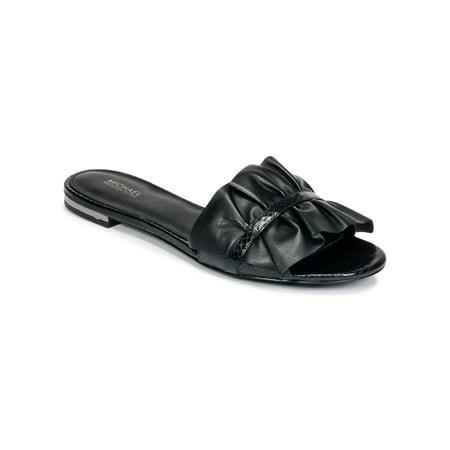 bb0ac6f04d3b Michael Michael Kors - Michael Michael Kors Womens Bella Slide Open Toe  Casual Slide Sandals - Walmart.com