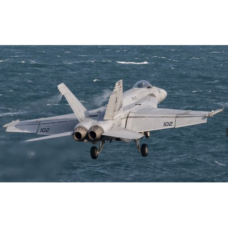 An Fa 18E Super Hornet Taking Off From Uss George Hw Bush Canvas Art   Giovanni Collastocktrek Images  18 X 11