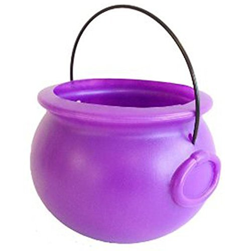"8 Inch Purple Plastic ""Pot-o-gold"" Cauldron Party Decorat..."