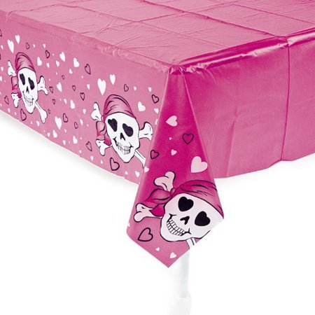 Fun Express Pink Pirate Girl Table Cover (Pink Pirate)