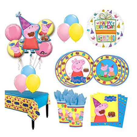 The Ultimate 16 Guest 94pc Peppa Pig Birthday Party Supplies (Peppa Birthday)