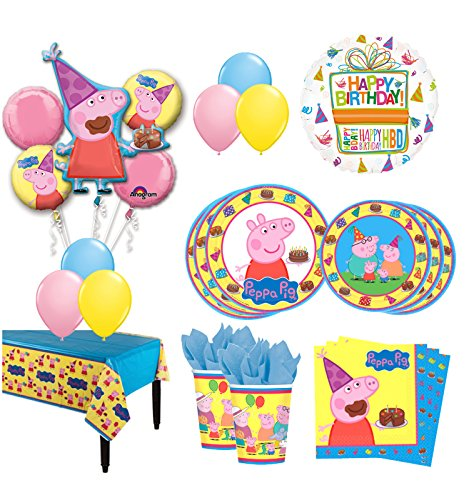 The Ultimate 8 Guest 53pc Peppa Pig Birthday Party Supplies