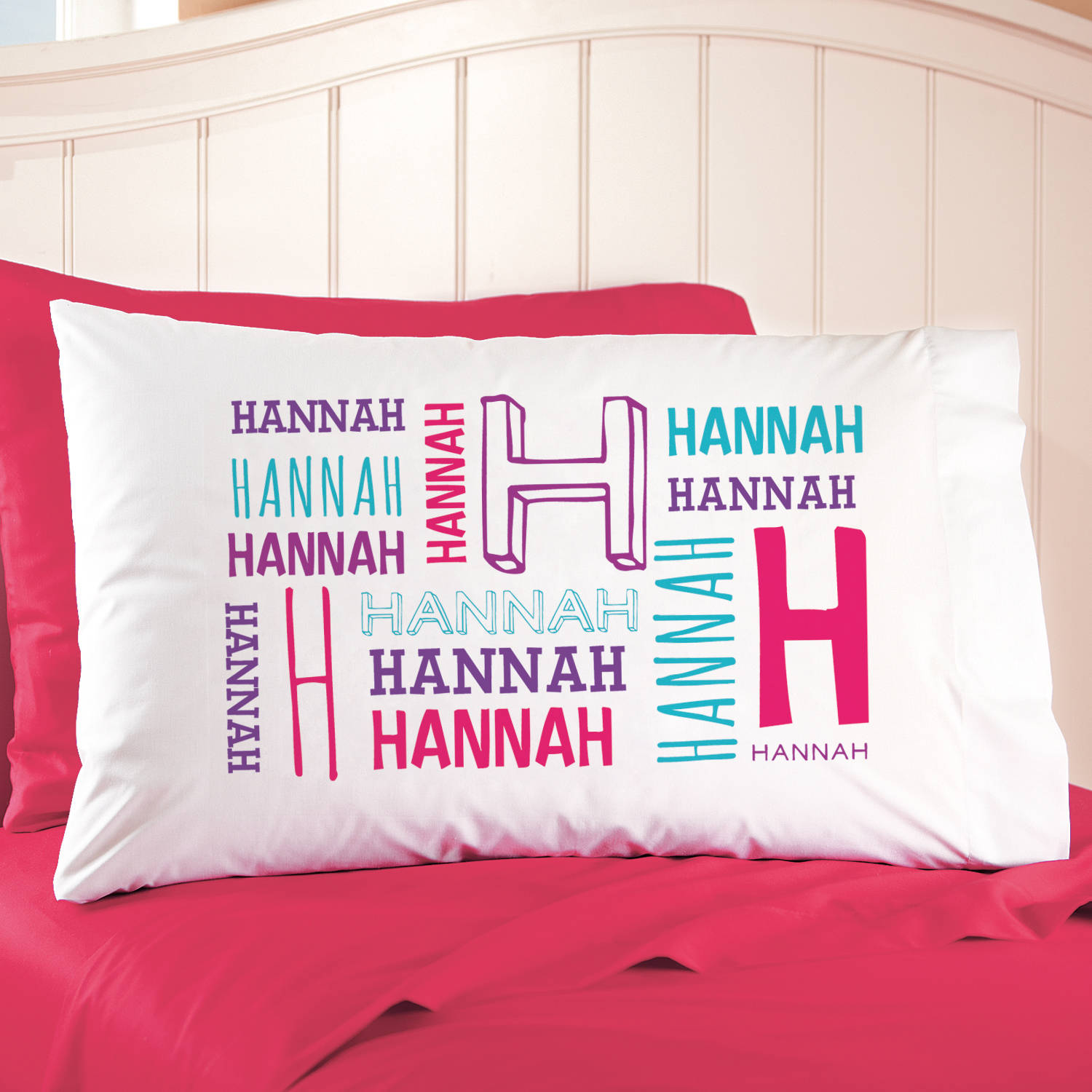 Personalized All Me Name Initial Pillowcase