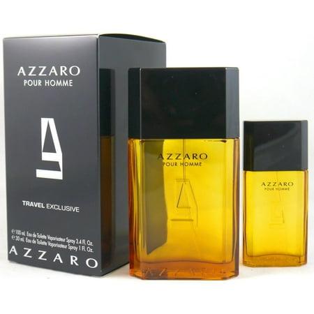 AZZARO POUR HOMME 3.3 EDT spray Men Cologne+ 1.0 oz EDT Travel Gift Set NIB