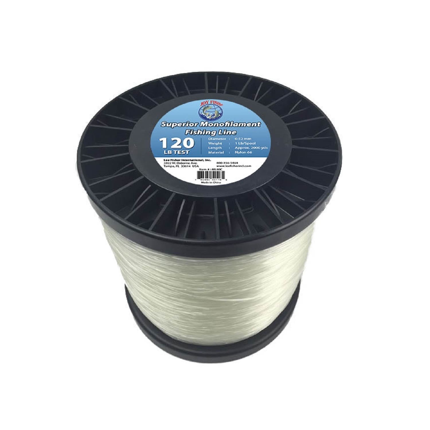 Click here to buy Joy Fish 5 lb Spool Monofilament Fishing Line, 120 lb, Hi-Vis by Lee Fisher.