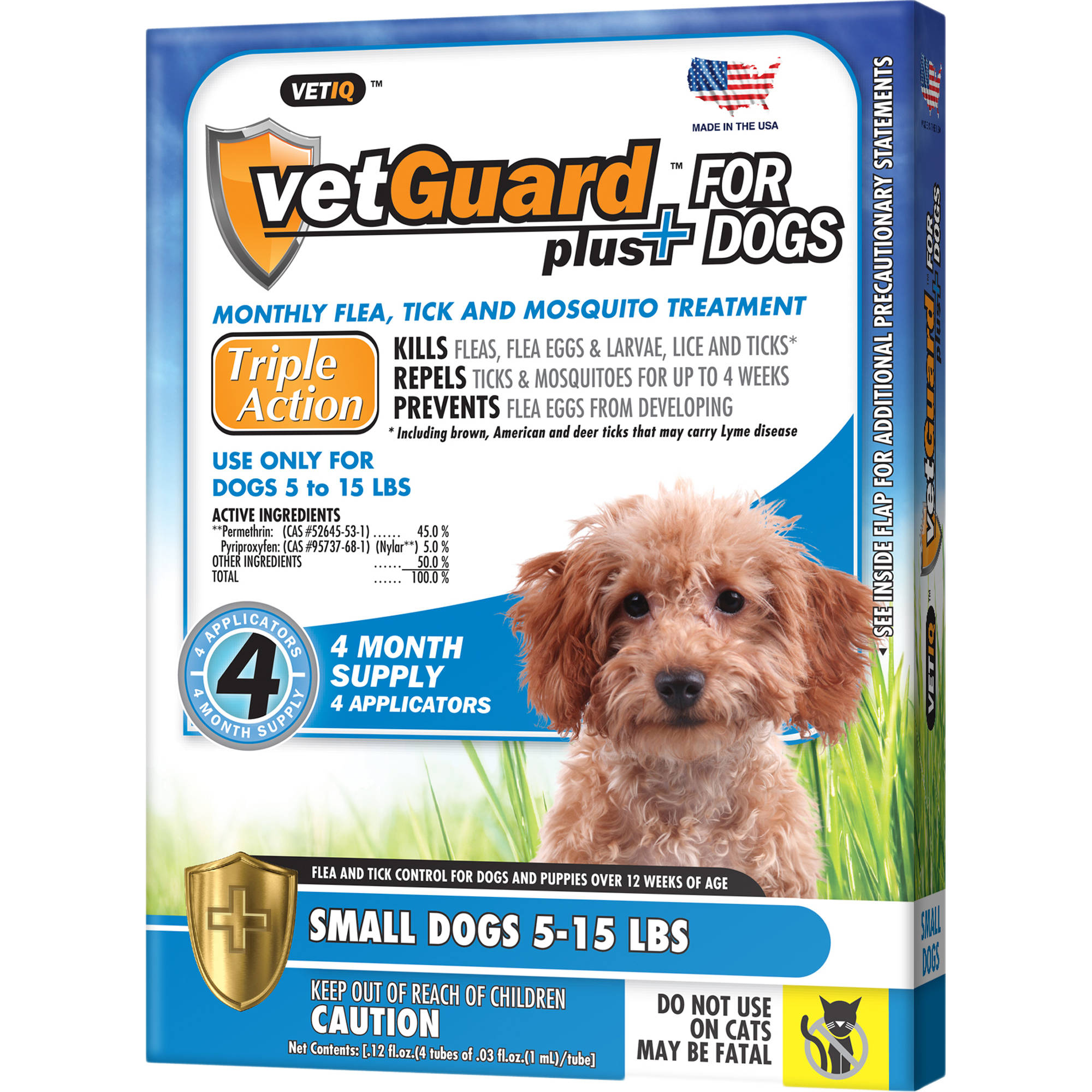 VetGuard Plus Flea and Tick Control for Small Dogs
