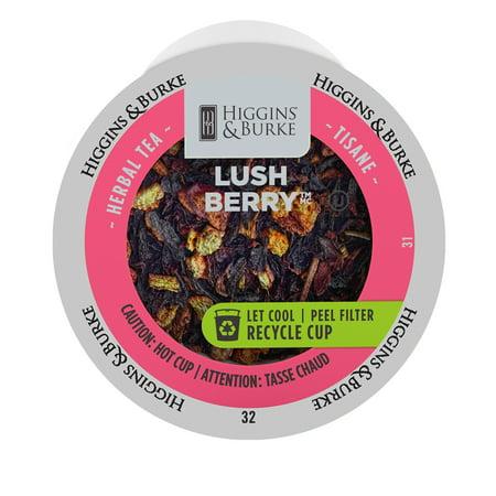 Higgins & Burke Loose Leaf Tea Lush Berry, RealCup portion pack for Keurig K-Cup Brewers, 24 Count