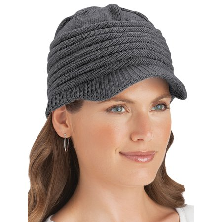 Ribbed Knit Cap (Ribbed Knit Winter Cap, One Size,)
