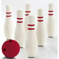 KOVOT Foam Bowling Set: Includes (6) Kid-Safe Junior Rubber Foam Pins & (1) Red Mini Foam Ball