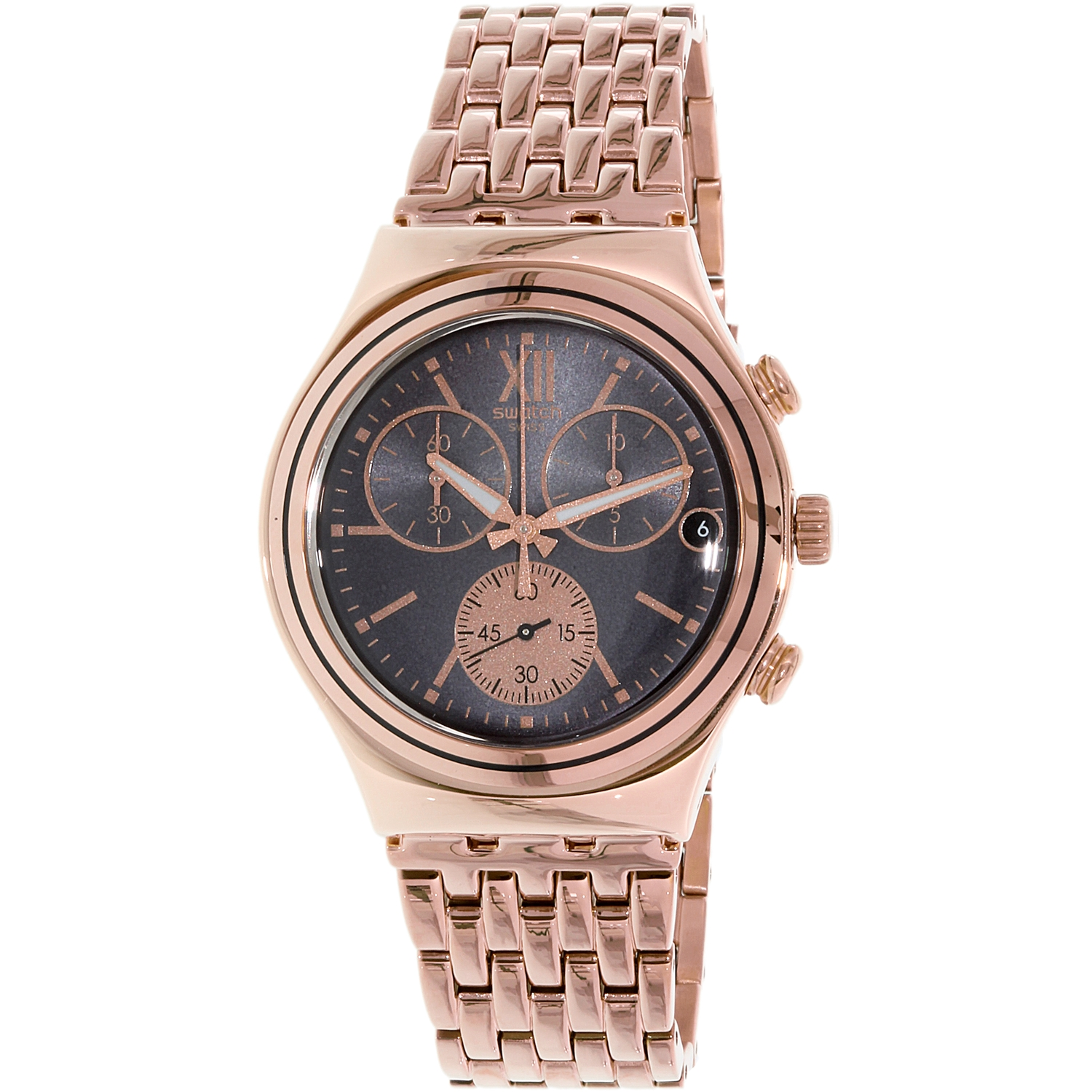 Swatch Men's Irony YCG412G Rose Gold Stainless-Steel Quartz Fashion Watch