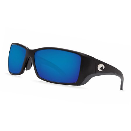 Costa Del Mar Blackfin Bl 11Gf Matte Black Global Fit Sunglasses Blue Lens 580P