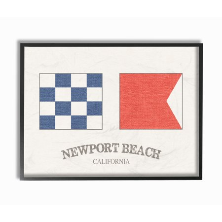 The Stupell Home Decor Collection Newport Beach Nautical Flags ...