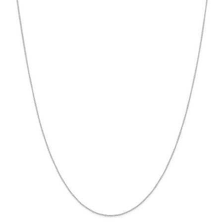 Roy Rose Jewelry 14K White Gold Carded Curb Chain Necklace ~ Length 16