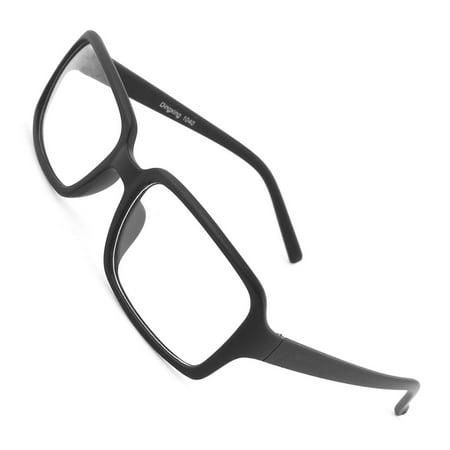 Black Full Rim Single Bridge Clear Lens Plano Glasses Eyewear for Women Man