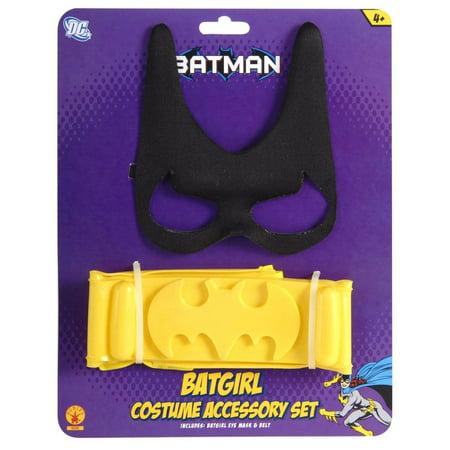 Batgirl Costume Accessory Kit Child One - Batgirl Kids Costume