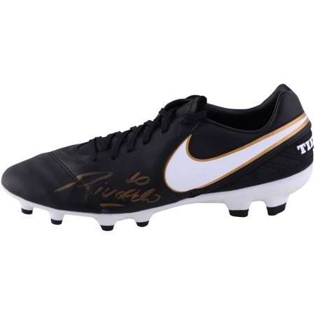 Rivaldo Autographed Black and Gold Tiempo Soccer Cleat - ICONS - Fanatics Authentic Certified