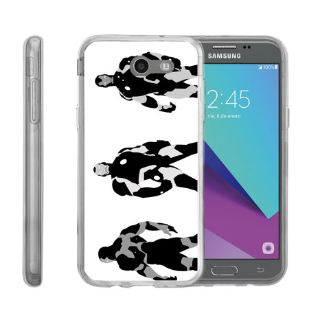 Case for Samsung Galaxy J3-Emerge | J3-Emerge Cover [ Flex Force ] Flexible Clear Case Comic Collection