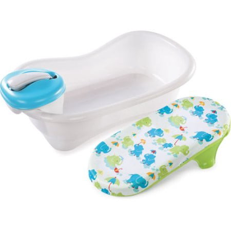 (Summer Infant Newborn-to-Toddler Bath Center & Shower, Blue)