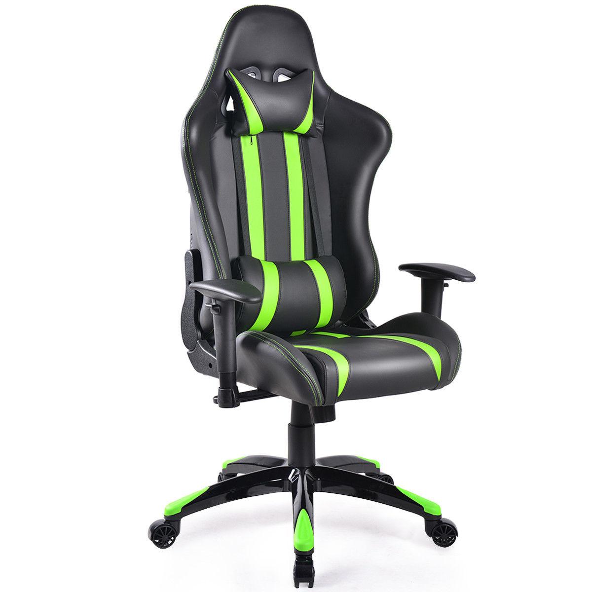 Costway Racing High Back Reclining Gaming Chair Ergonomic