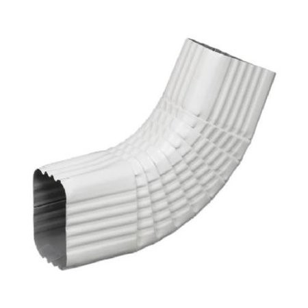 Amerimax Home Products 47265 Gutter Side Elbow, Style B, 75 Degree, White Aluminum, 3 x 4-In.