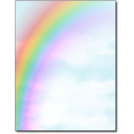 Rainbow Stationery Paper - 80 Sheets (3 Piece Stationery)