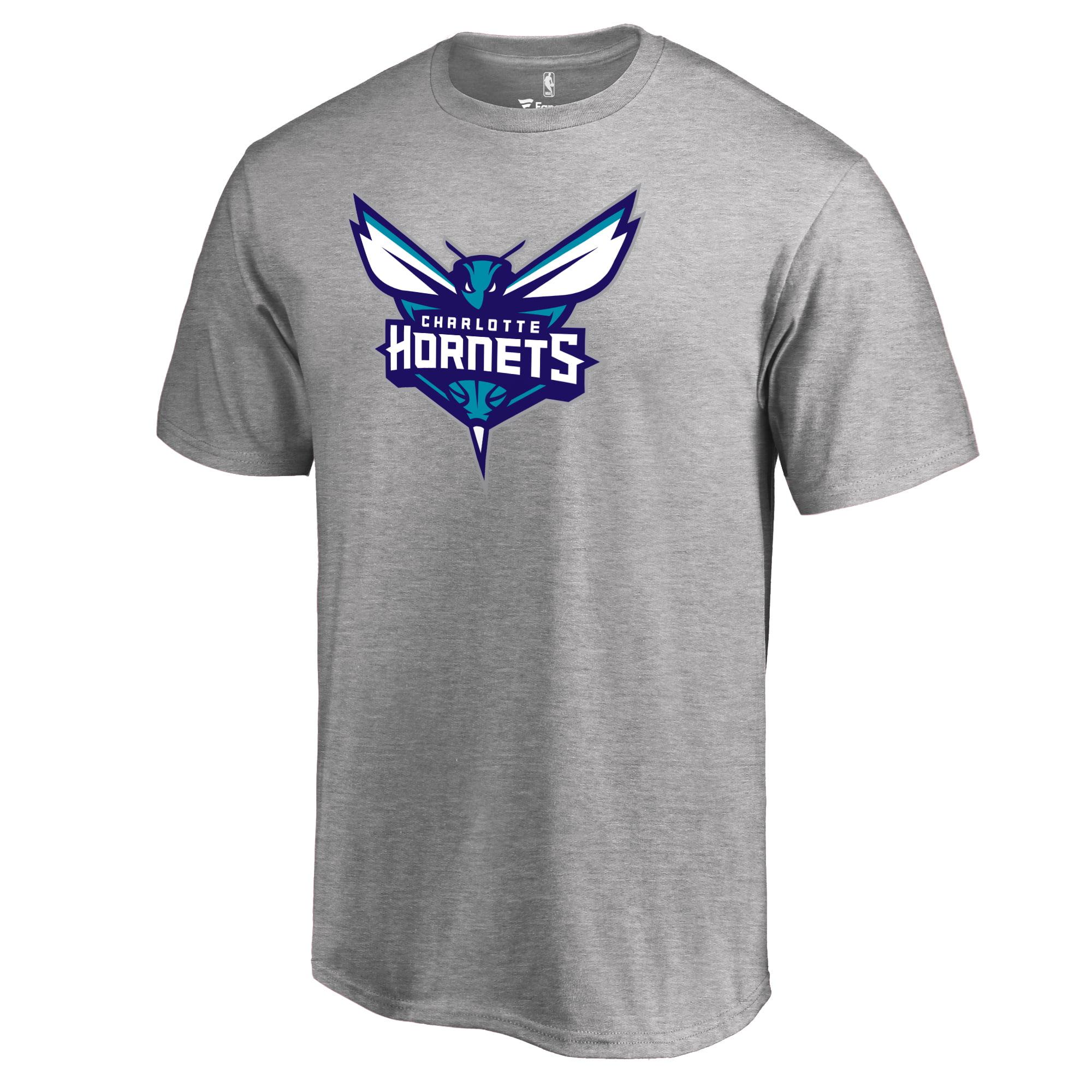 ff1de438b15 Charlotte Hornets Fanatics Branded Primary Logo T-Shirt - Heather Gray -  Walmart.com