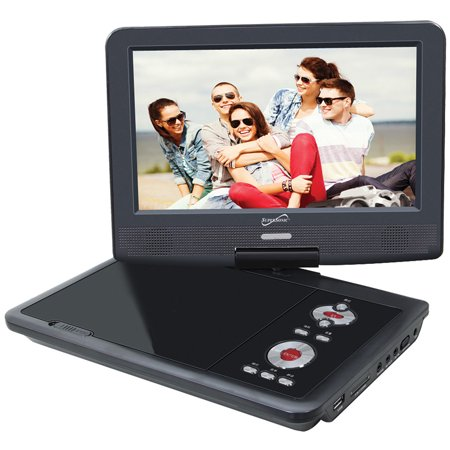 9 Inch Portable DVD/TV Player w/ Hybrid Digital Tuner, USB & SD Card Slots ()