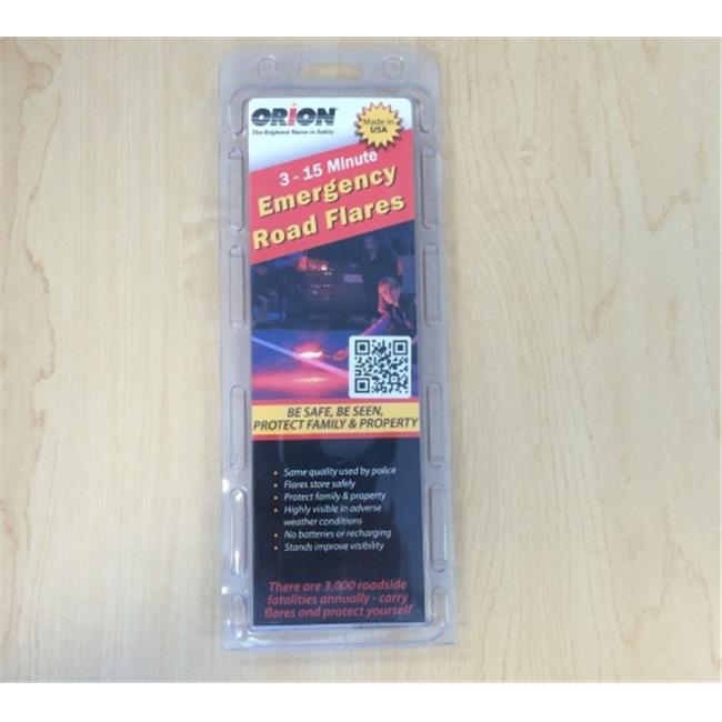 Orion 3153-08 Orion Emergency Flares, 3-Pack, Road Flares Car Safety
