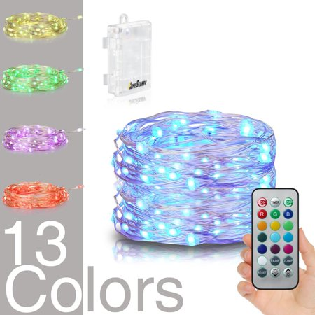 Luckled Battery Operated String Lights 18ft 50led Multi Color