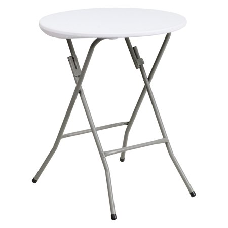 Flash Furniture 24'' Round Granite White Plastic Folding Table](Outdoor Plastic Table)