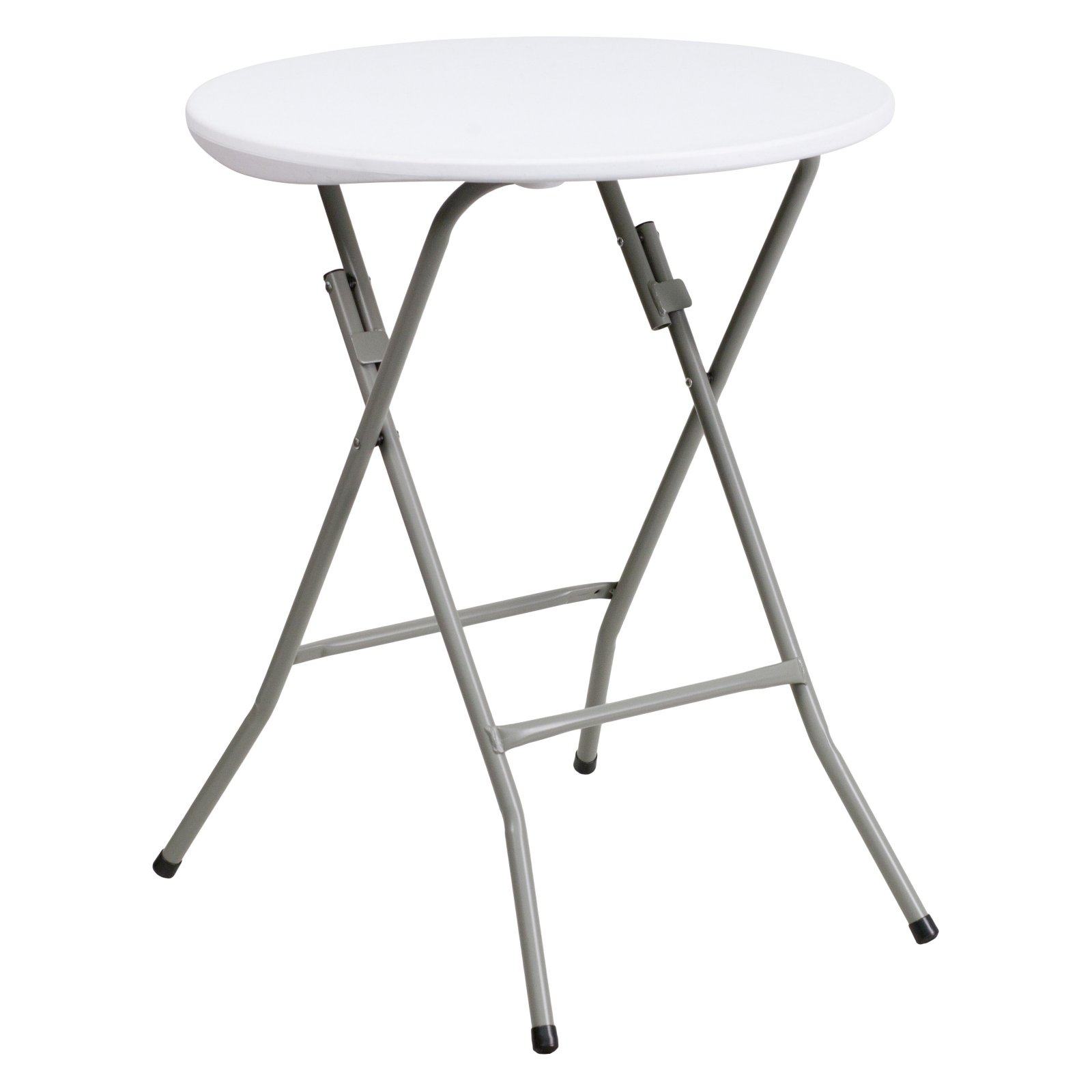 Flash Furniture 24'' Round Granite White Plastic Folding Table