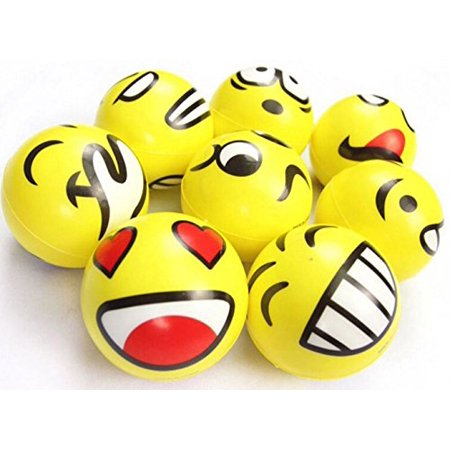 "3"" Party Pack Emoji Stress Balls Stress Reliver Party Favors, Toy Balls, Party Toys (12 Pack) - image 3 de 4"