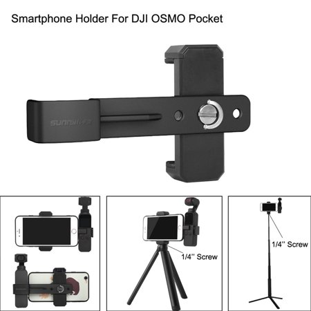 Smartphone Fixing Clamp 1/4'' Holder Mount Bracket For DJI OSMO Pocket - Gimbal Bracket Swivel Adapter