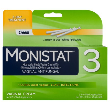 Monistat 3-Day Yeast Infection Treatment Pre-filled Cream (Best Over The Counter Yeast Infection Test)