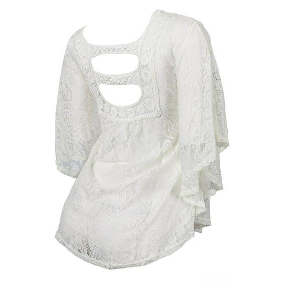 f9e451f01 eVogues Apparel - eVogues Plus Size Sheer Crochet Floral Lace Poncho ...