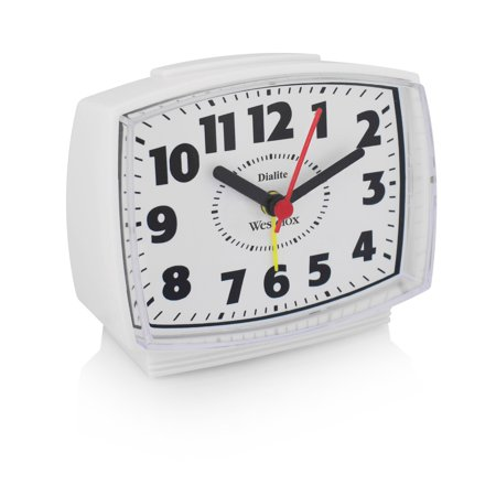 22192A- Westclox White Electric Alarm Clock- Plastic