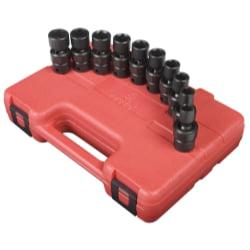 "10 Piece 3/8"" Drive Standard Metric Universal Impact Socket Set"