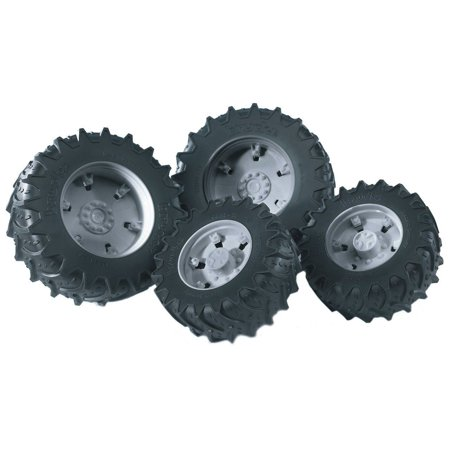Twin Tractor Tires (Grey Rims) - Vehicle Toy by Bruder Trucks (03315)