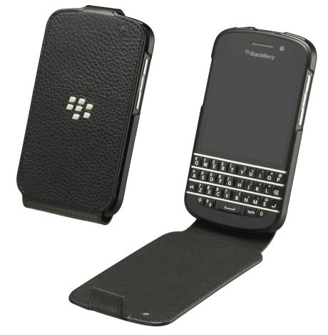 OEM BlackBerry Flip Shell Case for BlackBerry Q10 (Black)