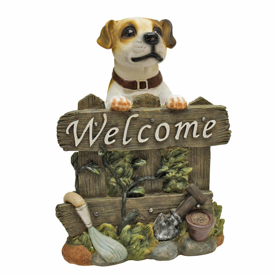 Design Toscano Jack Russell Terrier Dog Welcome Statue