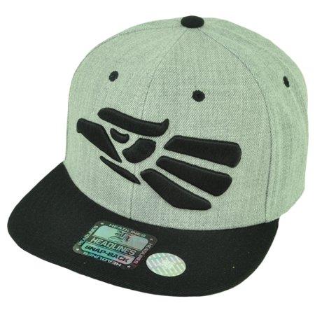 Hecho en Mexico Made in Snapback Flat Bill Brim Hat Cap Heather Gray (Mexican Hat Coneflower)