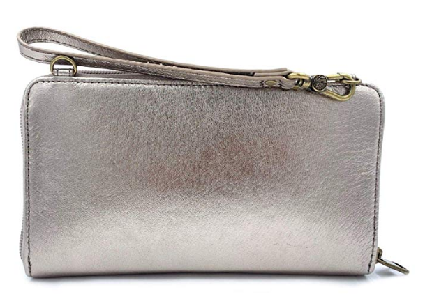 The Sak Leather 3 In 1 Phone Wallet PYRITE Color NEW Crossbody Wristlet