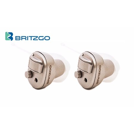 - Pack of Two Britzgo Small Hearing Aid Amplifiers, Lightweight & Invisible BHA-603