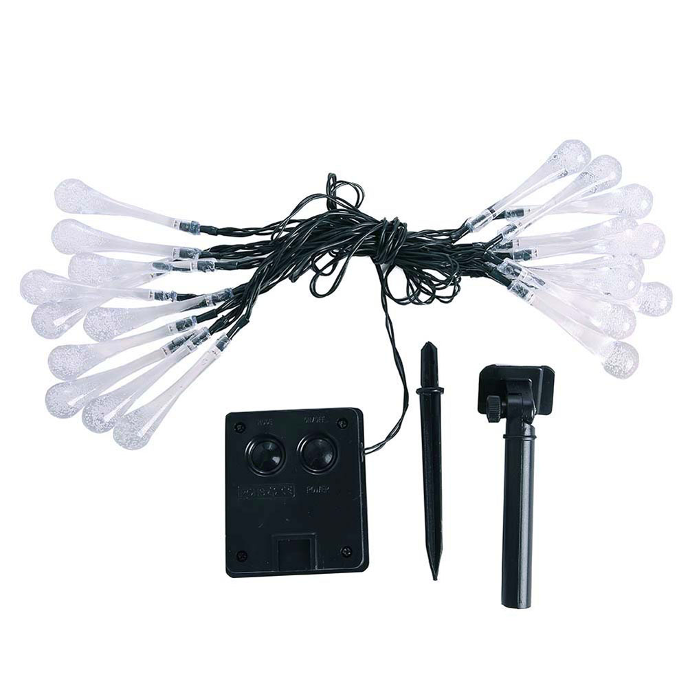 20 head 8 function solar water droplets decorative light string
